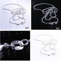 Wholesale inch Solid Sterling Silver Jewelry Necklace Link Chain With Lobster Clasp Fit Charm Pendants SH3 inch