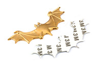 Wholesale 50pcs Car Bat Sticker Metal Badge Emblem Personalized Labeling Decal Decoration Auto D Sticker Fashion New with high quality and best price