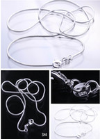 Wholesale inch Solid Sterling Silver Jewelry Necklace Snake Chain With Lobster Clasp Fit Charm Pendants SH4 inch