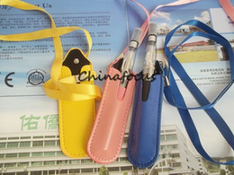 Wholesale e cig ego straight leather lanyard Leather Necklace welcome OEM can accept add lable order
