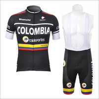 Wholesale cycling clothes Colombia cycling clothing short sleeve and cycling bib short sets New colombia cycling clothing men cycling jersey