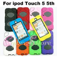 Wholesale 120pcs Hybrid Armor Impact amp Silicone Hard Full Body Box Case Cover With Screen Protector For ipod touch th