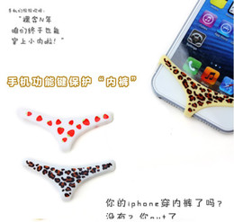 Discount underwear sell 2013 New Hot Sell Silicone Smarty Pants Apple Sexy Underwear Home Button Keys For iphone 4 4S 5 5G 5C Samsung CHINAPOST Free Shipping