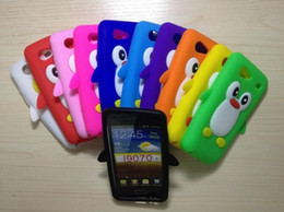 Wholesale 10pcs D Cute Cartoon Penguin Design Lovely Animal Case Cover for Samsung Galaxy S Advance i9070 Silicon Soft Back Skin