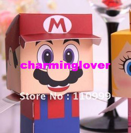 Wholesale Super Mario favor box and Princess Peach Favor Box Cute carton wedding candy favor box
