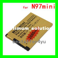 Wholesale 2pcs BL D battery N97 MINI Gold mAh High capacity Replacement battery For NOKIA N97MINI E5 E7 N8 T T7 Batterie