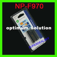 Wholesale 2PCS New BATTERY for SONY NP F970 NPF970 NP F970 NP F970 Digital Camera Camcorder Battery tracking no