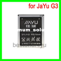 Wholesale Original mAh JIAYU G3 Battery For JIAYU G3 JY G3 mobile phone Batterie Batterij Bateria free shippig tracking code
