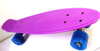"22 inch Purple New Fresh PP Material 22"" Penny Skateboards Purple Decks with Blue Wheels Penny board Skateboard Penny board Penny nickel skateboard"