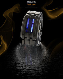 Wholesale High Quality Style LED Waterproof Watchs Army Military Watch With Blue LED Lights Electronic Digital Watch Men Gift Black Silver