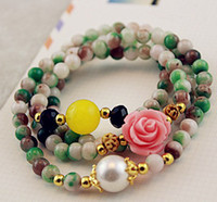 Wholesale 30 off Pure natural crystal bracelet green agate multi bracelet bracelets crystal cheap hot women man Beads SP