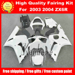 Free 7 gifts ABS race fairing kit for Kawasaki Ninja ZX6R 2003 2004 ZX-6R 03 04 ZX 6R G1m fairings new hot sale white black motorcycle parts