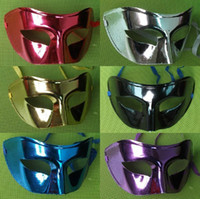 Wholesale Mens Mask Halloween Masquerade Masks Mardi Gras Venetian Dance Party Face The Mask Mixed Color