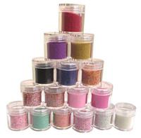 Mix Stars  16 Colors Metal Shiny Glitter Nail Art Tool Kit Acrylic UV Powder Dust Stamp 12pcs lot