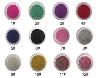 Mix Stars  16 Colors Metal Shiny Glitter Nail Art Tool Kit Acrylic UV Powder Dust Stamp caviar nail Art Acrylic Steel Ball Manicure Decoration Tips