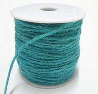 Wholesale Aquamarine Soft Jute Twine Cord Hemp Rope Cord DIY Decorative Handmade Craft Accessory mm yards pc