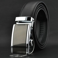 Wholesale 2014 Men s Genuine Leather Belt Automatic Business Belts for Man Big Size p0506