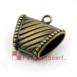 50PCS LOT, Top Fashion Jewellery Scarf Pendant Accessories Antique Bronze Plated Striped Plastic CCB Slide Bails Tube, Free Shipping, AC0079