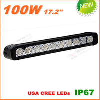 Wholesale New W CREE LED Work Light Bar V V IP67 Flood Spot beam For WD x4 Off road Light Bars TRUCK BOAT TRAIN