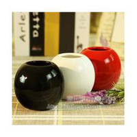 bamboo office furniture - ceramic flower vase ball home furniture table desk office decor decoration red black white