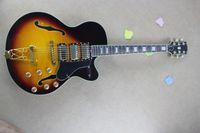 Wholesale 2013 New Arrival Custom Shop Guitar Rosewood Hollow Jazz Sunburst Strings natural Wood Electric Guitar