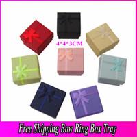 Wholesale Ring Earrings Casket Bracelet Trinket Jewelry Boxes Lover Gift Wedding Favor Bag Packing Case Holder BX001
