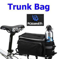Wholesale Black Multi functional Bicycle Rhear Seat Trunk Bag Bicycle Busket Soulder Handbag Bag Pannier