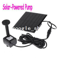 Wholesale Black Solar Powered Pump For Water Cycle Pond Fountain Rockery Fountain Freeshipping