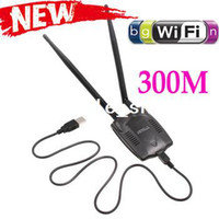 Wholesale 300M USB WiFi Wireless LAN n g b Adapter Network Cards with Antenna Computer amp Networking