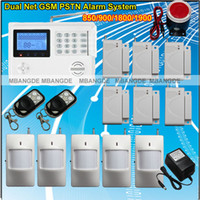Wholesale Quad Band Zones Wireless Wired GSM PSTN Home Burglar Security Alarm System