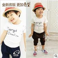 Boy 1-6y   2013 New Fashion Children Kids Clothing Set Girls Boys Summer Wear HOT Selling