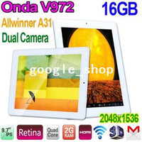 Wholesale Onda V972 Quad Core inch IPS Retina Screen Allwinner A31 GB RAM x1536 Android Dual Camera G HDMI WiFi Tablet PC