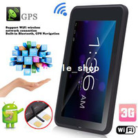 Wholesale 7 inch Freelander G dual core tablet pc android GPS MTK GB RAM GB ROM Dual Sim Phone Call WCDMA G WiFi Bluetooth