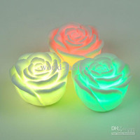 Wholesale LED rose light Changing Color Floating Rose Flower Night Light Candle Lights