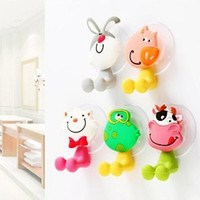 Wholesale Cartoon animals powerful cupule sucker chuck TOOTHBRUSH HOLDER holders Practical funny holders