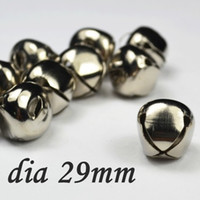 Wholesale Dia mm Classic DIY Nickel Cross Christmas Bell Ornaments MINI Christmas Items XD108