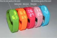 Wholesale USB LED Watch Wristband USB Drive GB GB GB GB GB Memory USB Flash Drive USB Flash Stick Thumb Pen Drive DHL