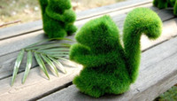 Plastic artificial dogs - Grass Land Handmade Animal rabbit small dog squirrel alpaca with Artificial Turf