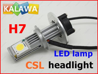 Cheap 1 Set H7 25W CSL Car headlight LED light CREE CHIP 6000K Lumens 1800K Beam Angle 360 2013 NEW PRODUCT FREESHPPING FFF