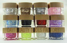 FREE SHIPPING UV glitter Nail Gel 12colors blink UV GEL PRO Nail Art Builder Gel Wholesale