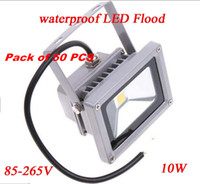 10W LED IP65 Pack of 50 PCS 85-265V 10W Landscape garden Lighting waterproof LED Flood Light Floodlight LED street Lamp Free Shipping