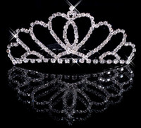 Crown Rhinestone/Crystal  Silver Wedding Bridal crystal veil tiara headband Wedding Crown CU002