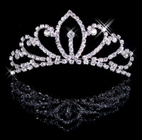 Crown Rhinestone/Crystal  Silver Wedding Bridal crystal veil tiara headband Wedding Crown CU003