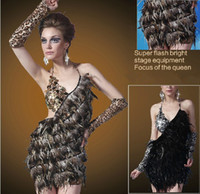 Wholesale Dance Clothing DS Costumes Nightclubs Sexy Latin Dance Performance Costumes Feather Activity Outfits Stage Wear
