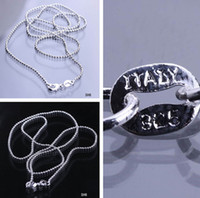 Wholesale inch Solid Sterling Silver Jewelry Necklace Link Balls Chain With Lobster Clasp Fit Charm Pendants SH6 inch