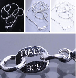 Wholesale inch Silver Plated Jewelry Necklace Link Balls Chain With Lobster Clasp Fit Charm Pendants SH6 inch