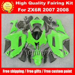 Free 7 gifts ABS race fairing kit for Kawasaki Ninja ZX 6R 2007 2008 ZX6R 07 08 ZX-6R G4n fairings high grade green black motorcycle parts