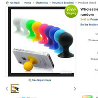 Wholesale 27pc creative Apple shape iPad iphone laptop stand phone holder color random