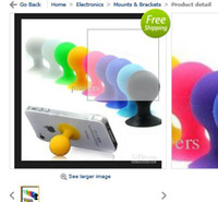 Wholesale 34pc creative Apple shape iPad iphone laptop stand phone holder color random