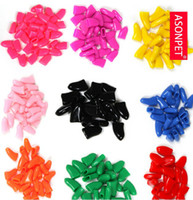 Wholesale soft silicone tail pet manicure sets Cat dog nails Prevent scratches manicure set mix colour